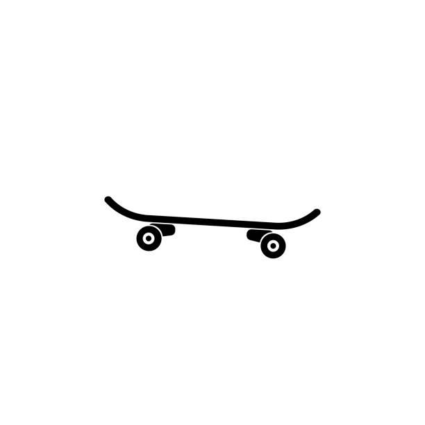 Icon of skateboard Skateboarding, Activity, Recreational Pursuit, Street, Skateboard skate stock illustrations