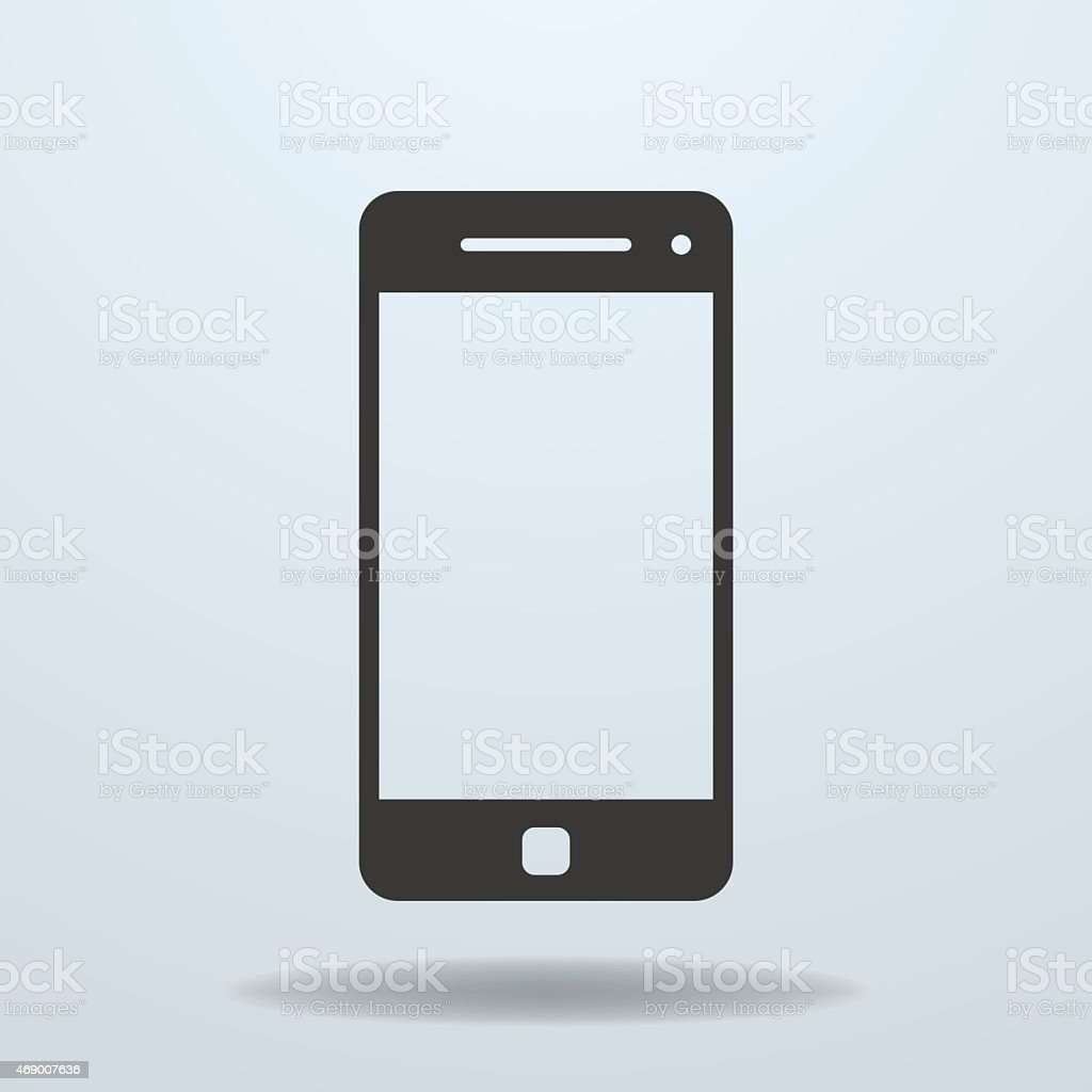 Icon of Smartphone, mobile phone vector art illustration