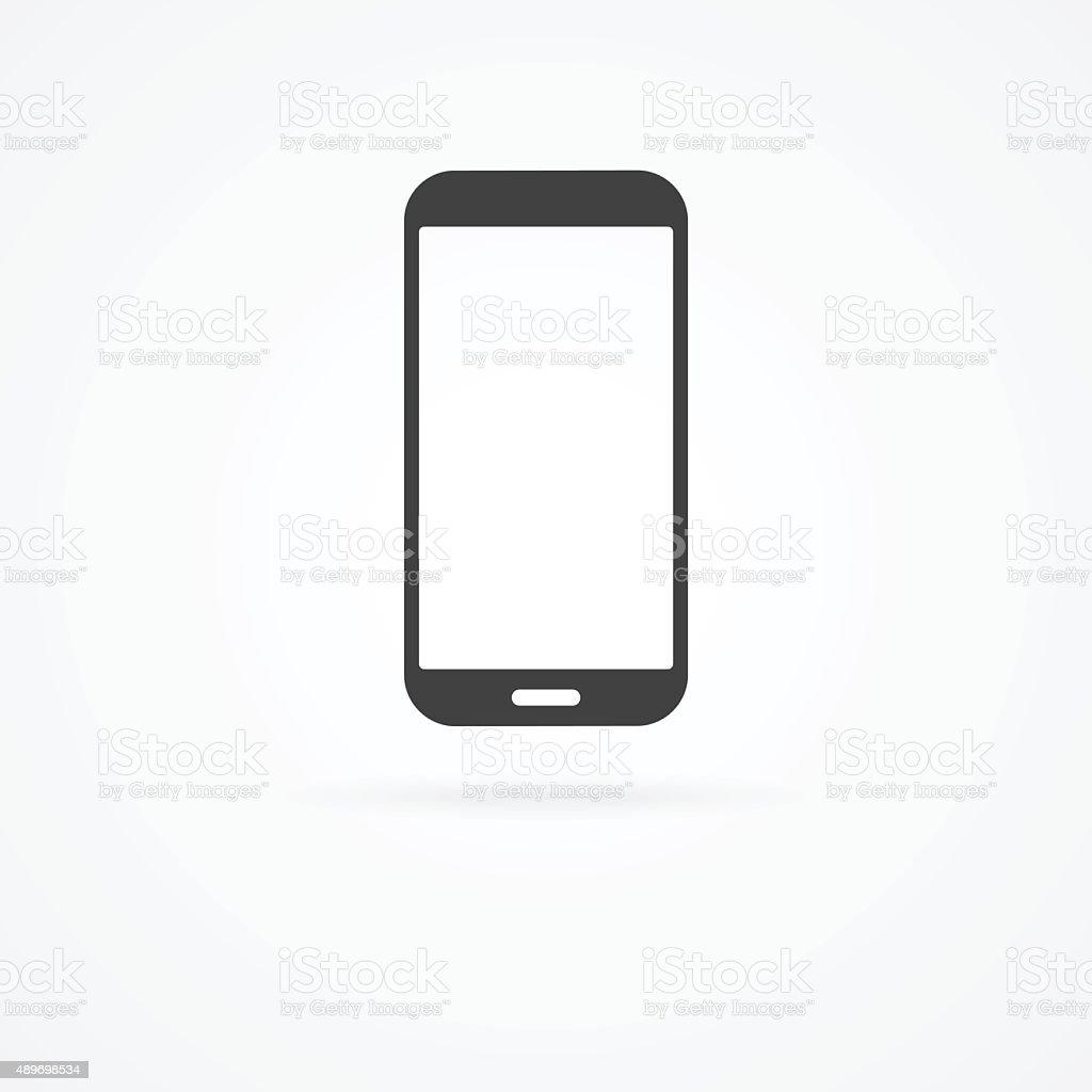 Ic ne de smartphone sur fond blanc avec ombre cliparts - Ne plus recevoir de coup de telephone publicitaire ...