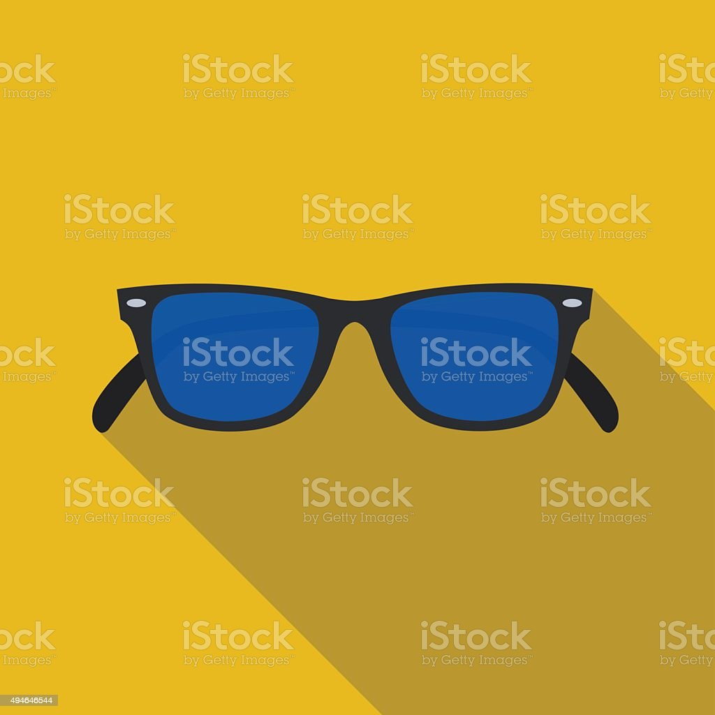 icon of sunglasses in flat design vector art illustration