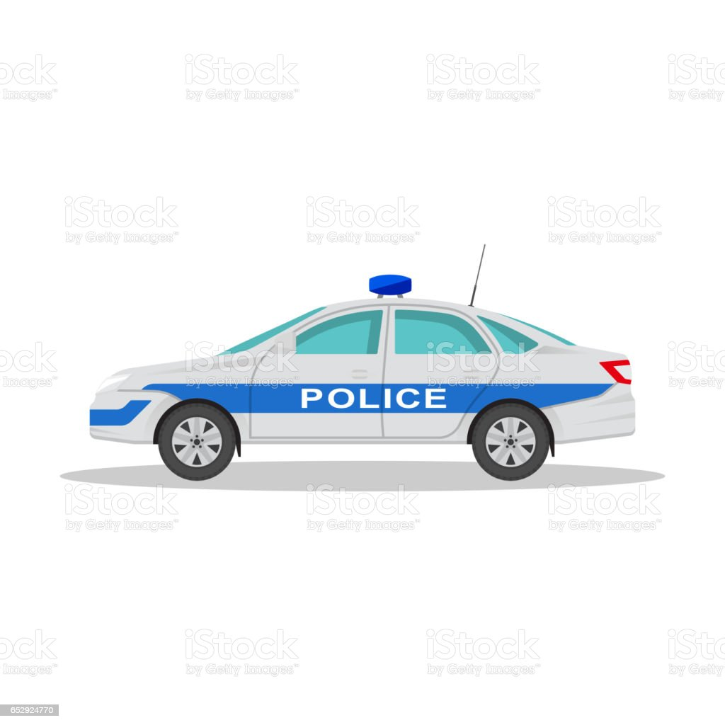 Icon of the police car vector art illustration