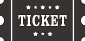 Icon of Ticket. Ticket sign, symbol