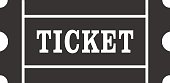 Icon of Ticket. Ticket sign, symbol