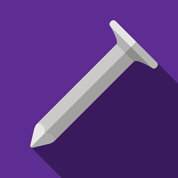 symbol von spielzeug hobnail in flat-design - nagelspitze stock-grafiken, -clipart, -cartoons und -symbole