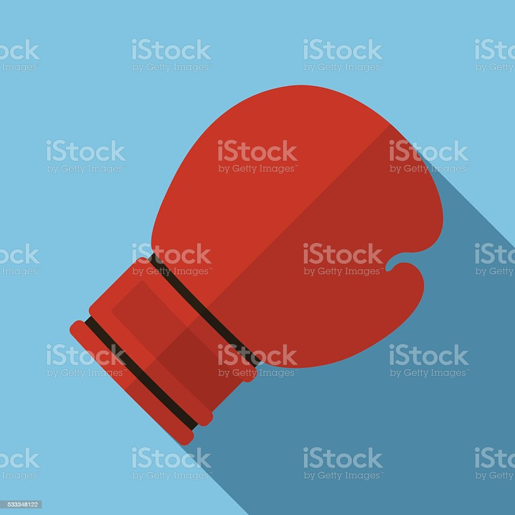 Icon of toy red boxing gloves in flat design vector art illustration