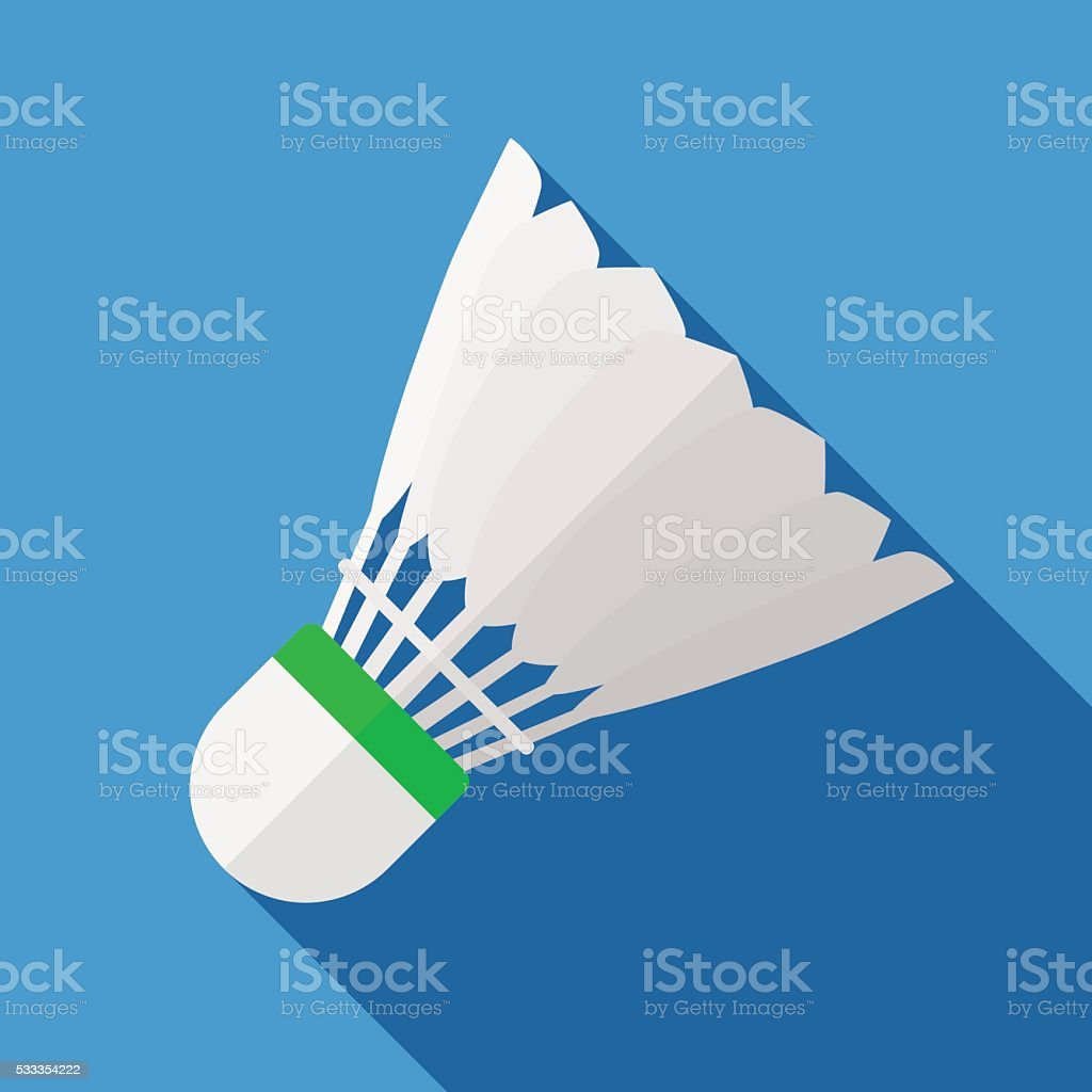 Icon of toy shuttlecock for badminton in flat design vector art illustration