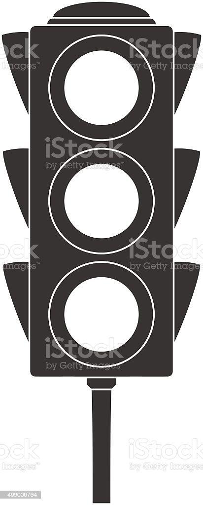Icon of traffic light. vector art illustration