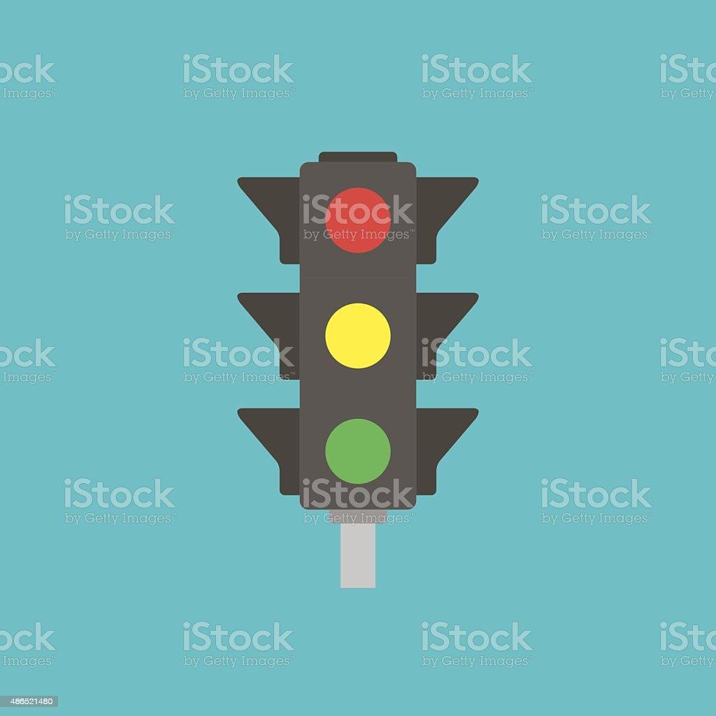 icon of traffic light vector art illustration