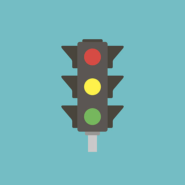 icon of traffic light - stoplights stock illustrations, clip art, cartoons, & icons