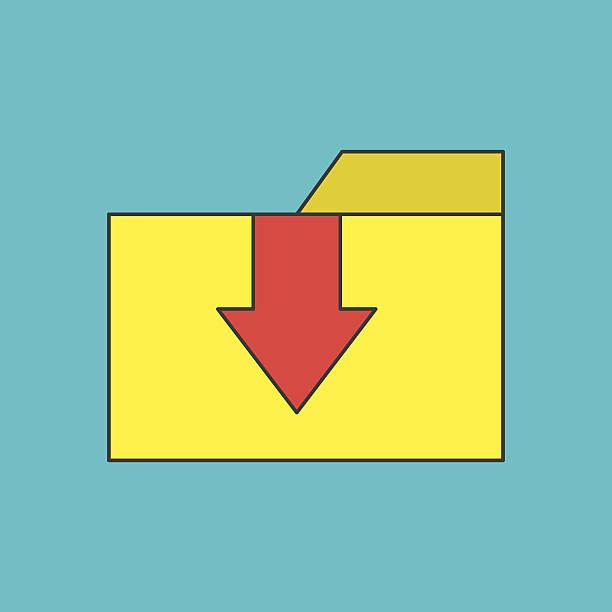 illustrations, cliparts, dessins animés et icônes de icône de dossier de transfert - infographie processus