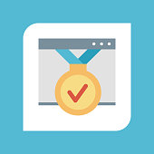 Icon of web page - Illustration
