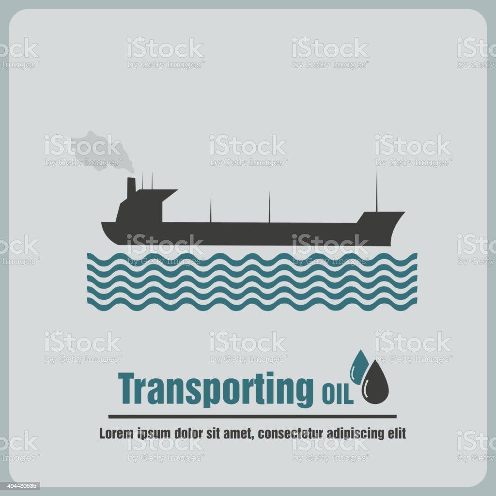 icon oil barge vector art illustration