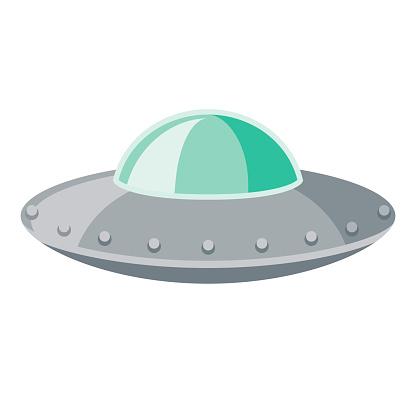 UFO Icon on Transparent Background