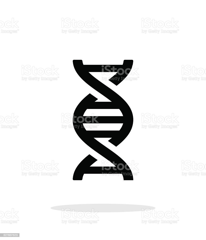 DNA icon on white background. vector art illustration