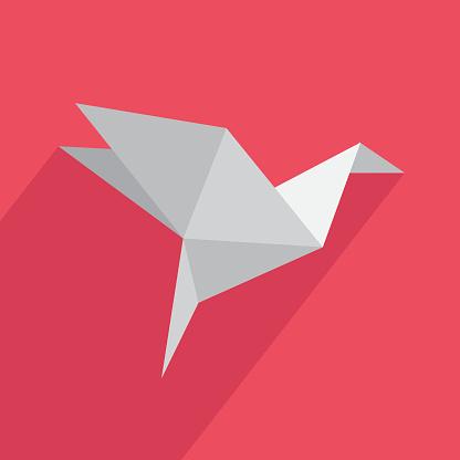 Icon origami flat