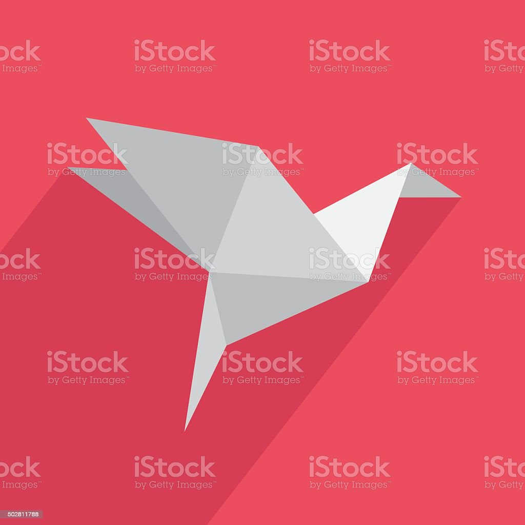 Icon origami flat vector art illustration