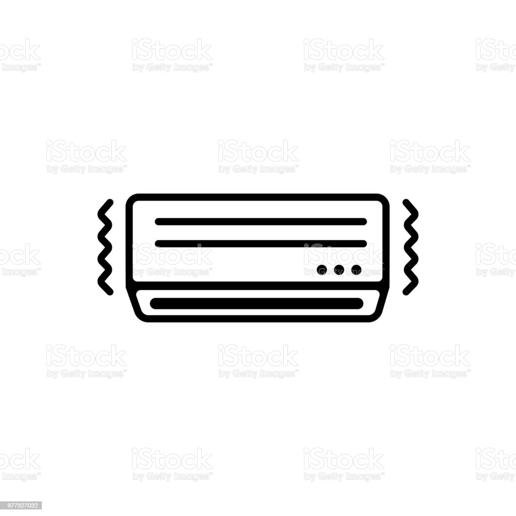AC ( air conditioner) icon / out of order,borken vector art illustration
