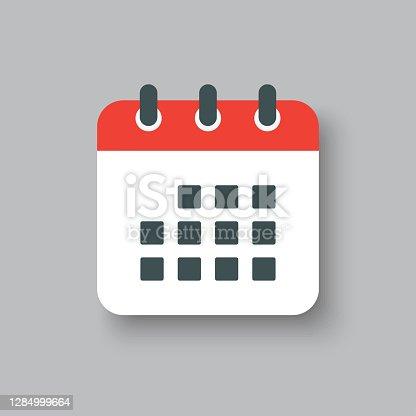 istock Icon page calendar - schedule, deadline, date, app 1284999664