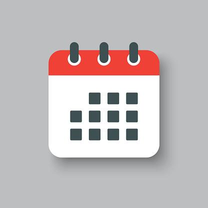 Icon page calendar - schedule, deadline, date, app