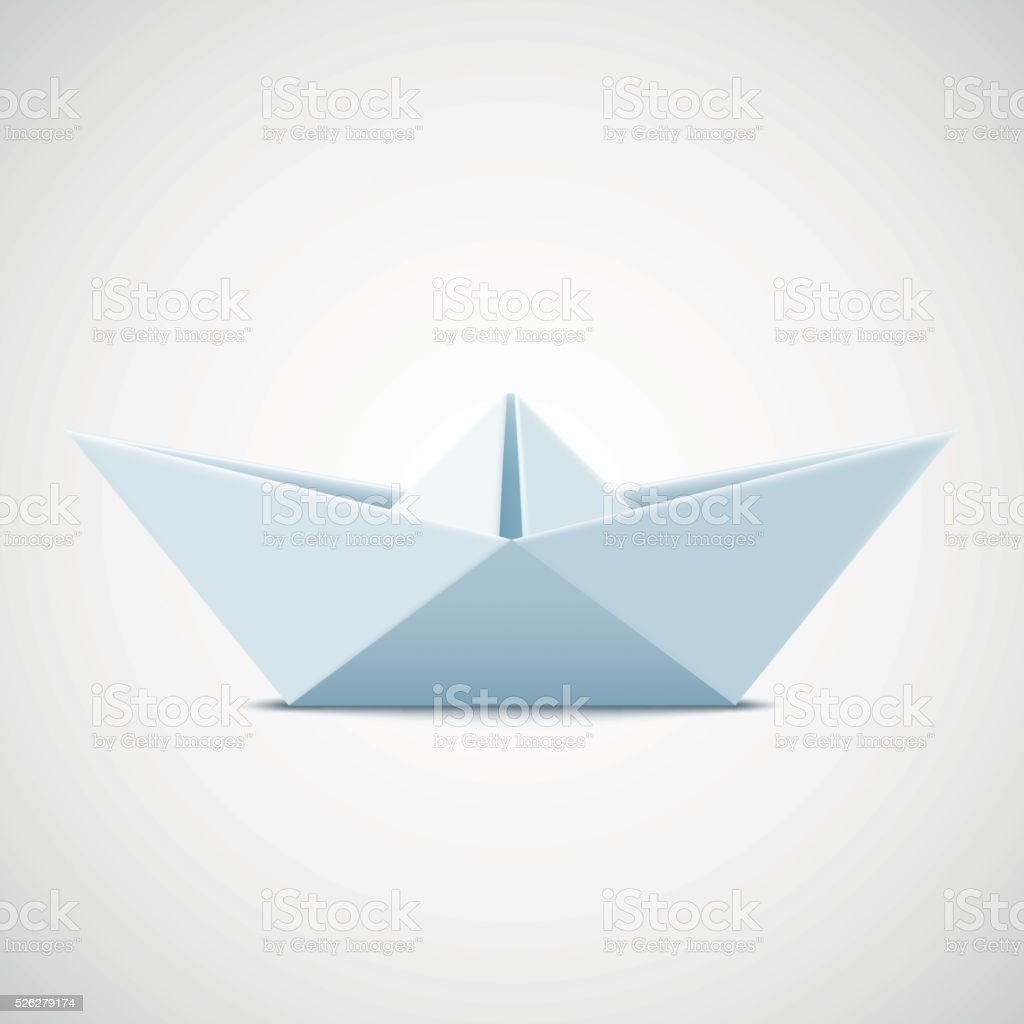 Icon paper boat on a white background. Stock vector illustration vector art illustration