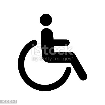 Sign icon person disabled. Simple vector illustration.