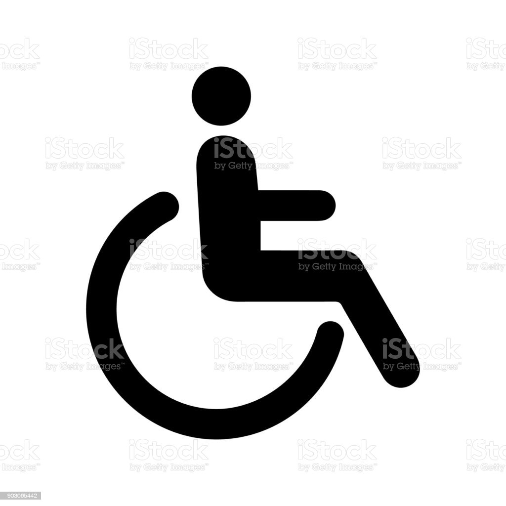 icon person disabled vector art illustration