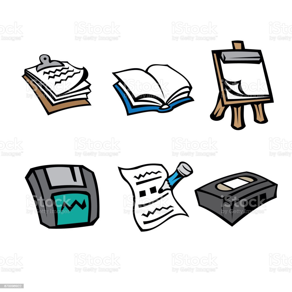 floppy office icon pictogram office supplies clipboard book flipchart floppy disk paper pictogram office supplies clipboard book flipchart floppy disk