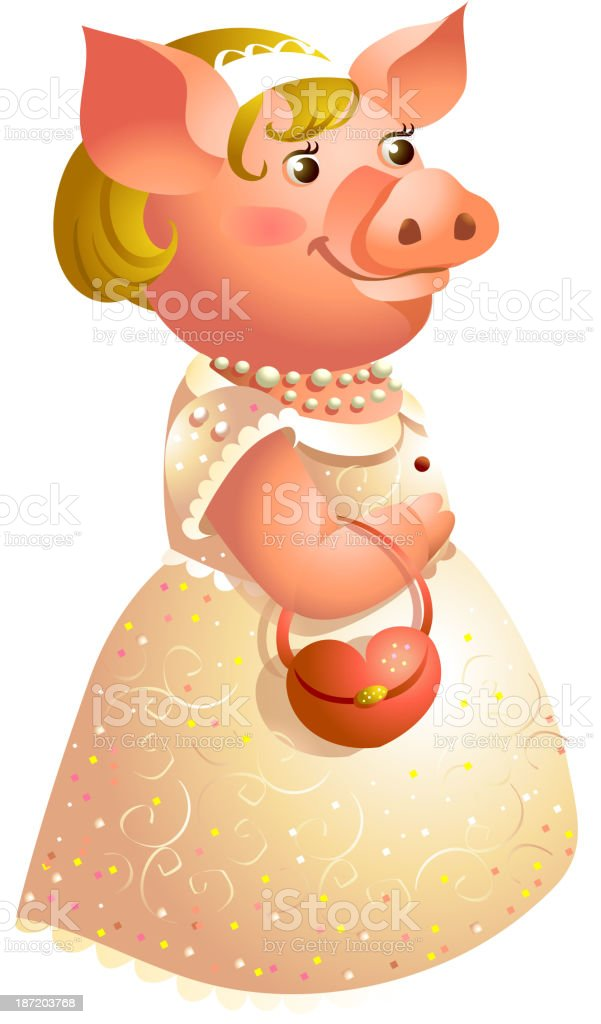 icon pig royalty-free stock vector art