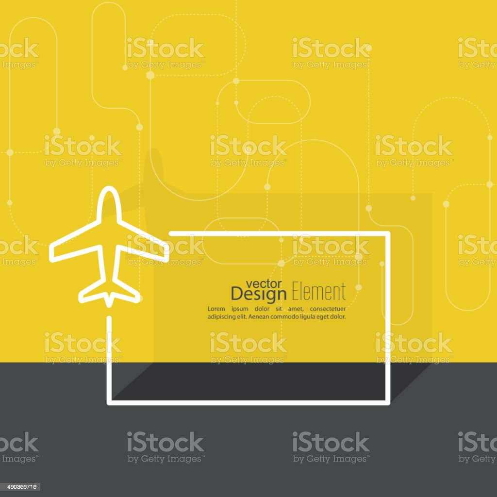 Icon plane vector art illustration