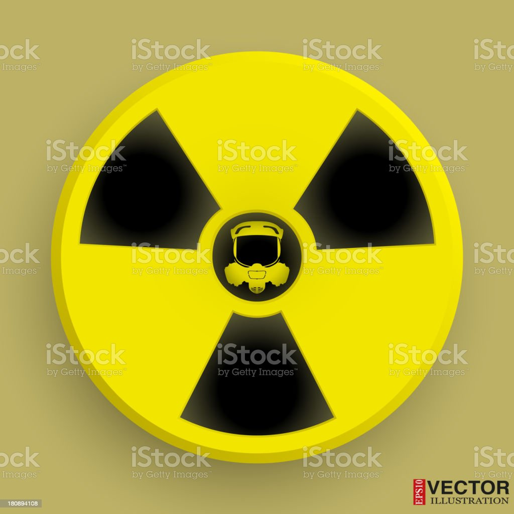 Icon radiation symbol with gas mask royalty-free icon radiation symbol with gas mask stock vector art & more images of alertness