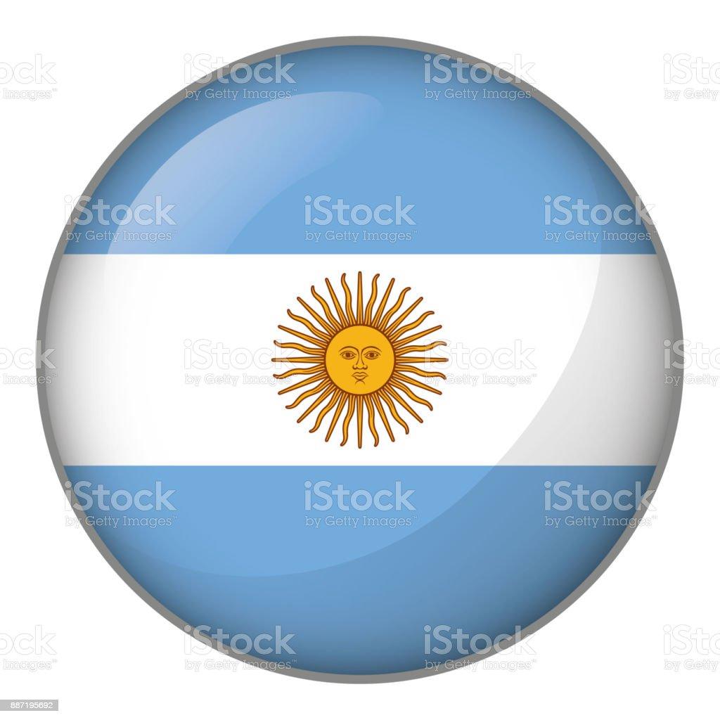 Icono que representa el botón bandera de Argentina. Ideal para catálogos de materiales institucionales y de la geografía - ilustración de arte vectorial