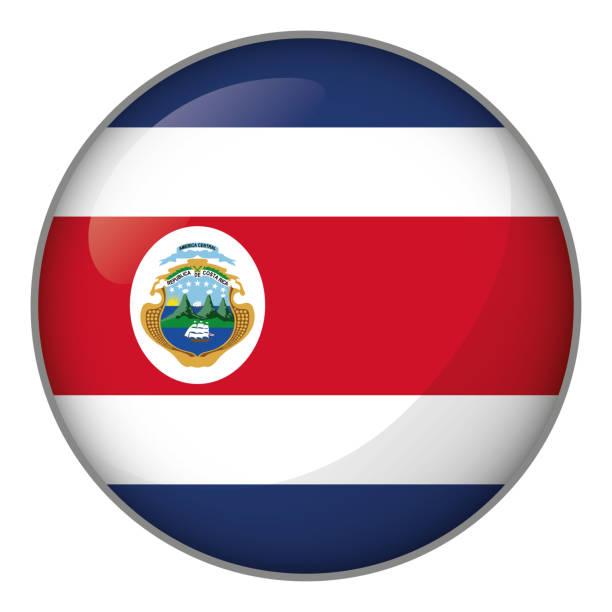 Symbol für Knopf Fahne von Costa Rica. Ideal für Kataloge von institutionellen Materialien und Geographie – Vektorgrafik