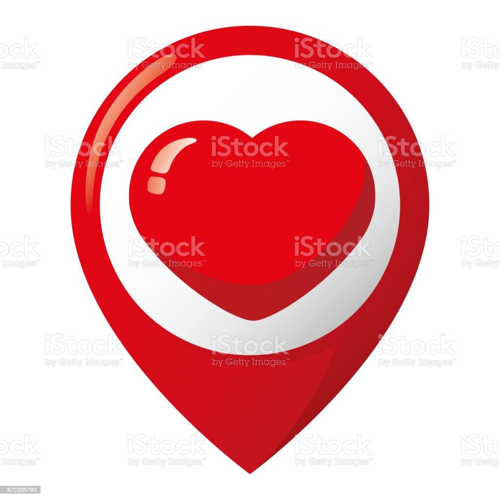 Symbol Für Lage Ein Herz Liebe Leidenschaft Freund Ideal Für ...