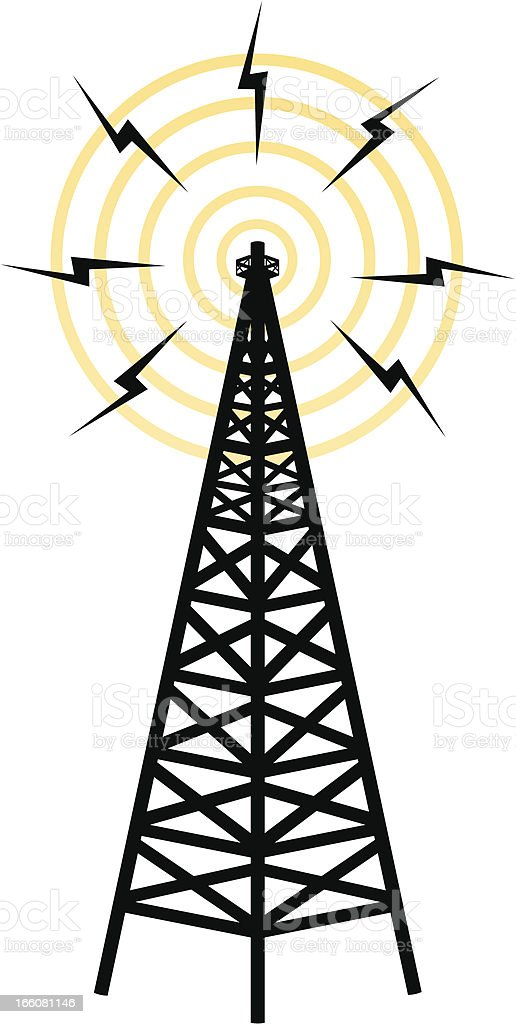 Icon representing wireless transmission tower royalty-free icon representing wireless transmission tower stock vector art & more images of audio equipment