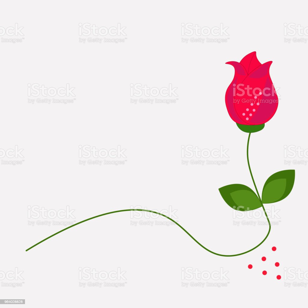 icon rose flower design - Royalty-free Art stock vector