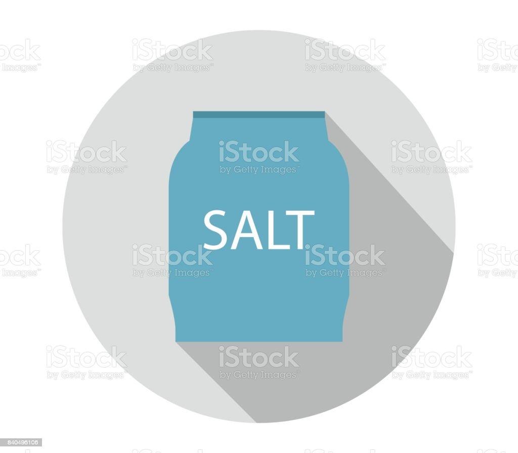 Icon salt vector art illustration