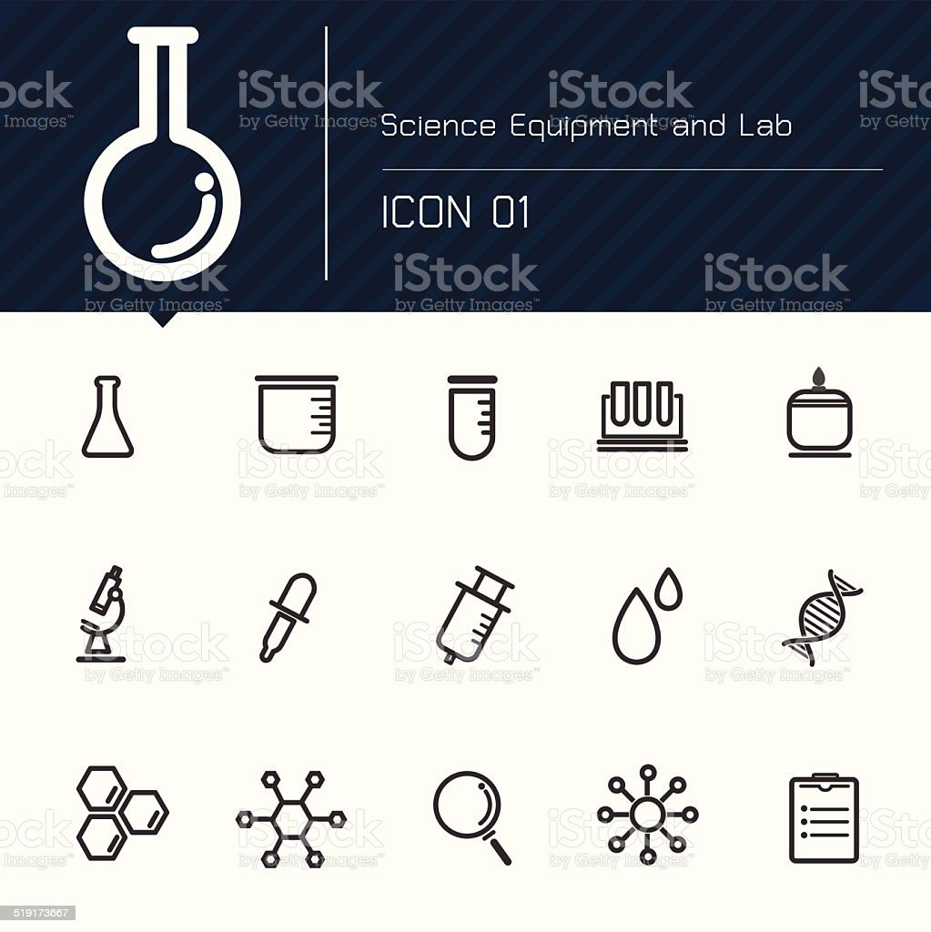 Icon Science Equipment and Lab vector art illustration