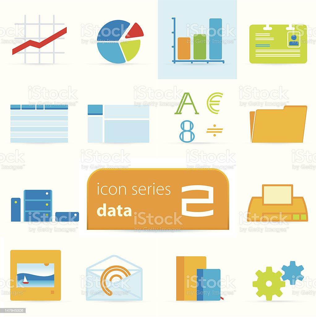 Icon series 2: data royalty-free stock vector art