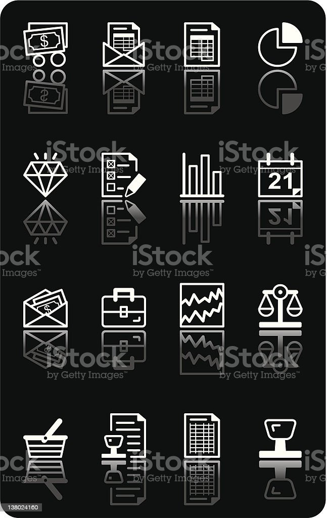 Icon series - Accounting & Finance royalty-free stock vector art