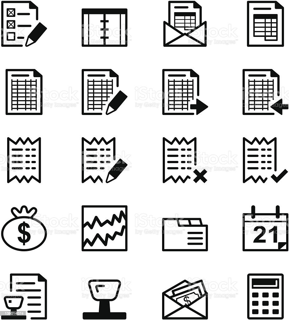 Icon series - Audit & Accounting vector art illustration
