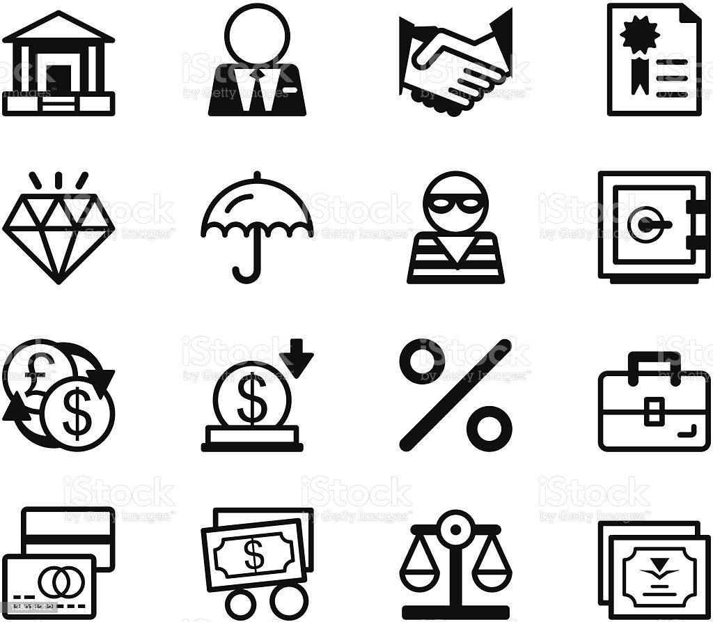 Icon series - Banking royalty-free stock vector art