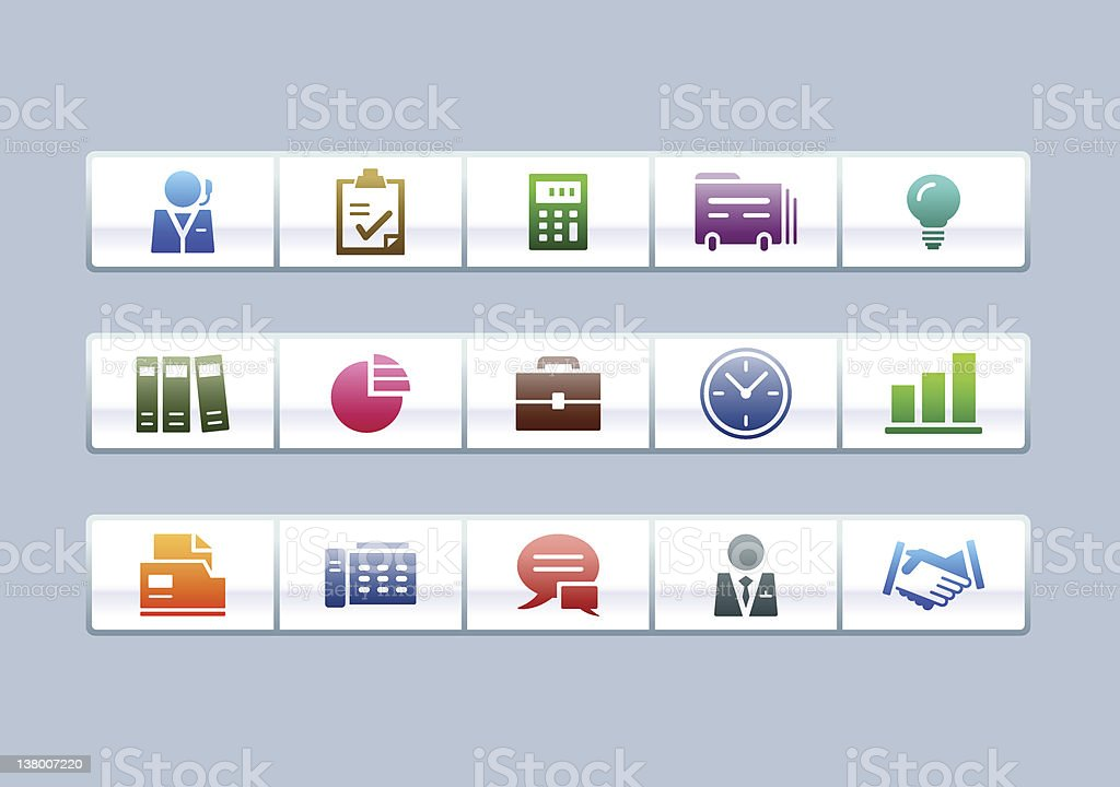 'PARCO' Icon Series - Business & Office royalty-free stock vector art