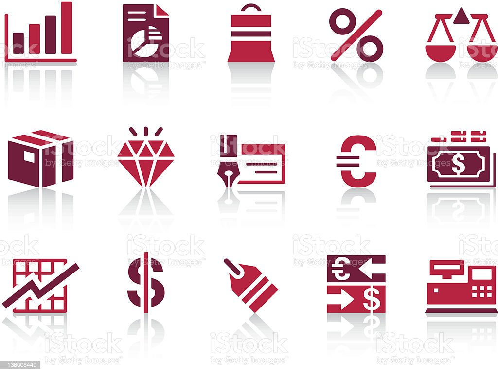 'REPRO' Icon Series - Business/Financial royalty-free stock vector art