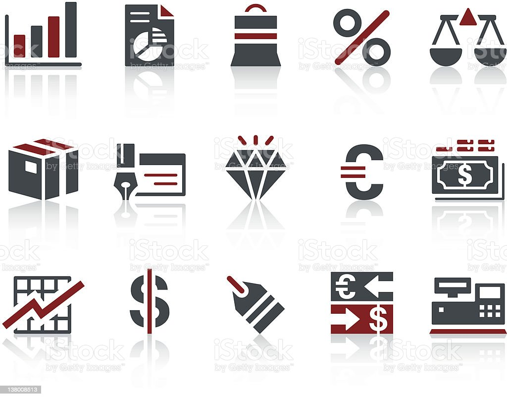 'COPO' Icon Series - Business/Financial royalty-free stock vector art