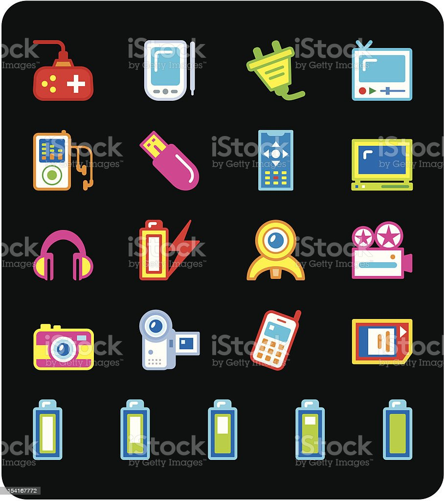 Icon series - Electronic Gadget royalty-free stock vector art