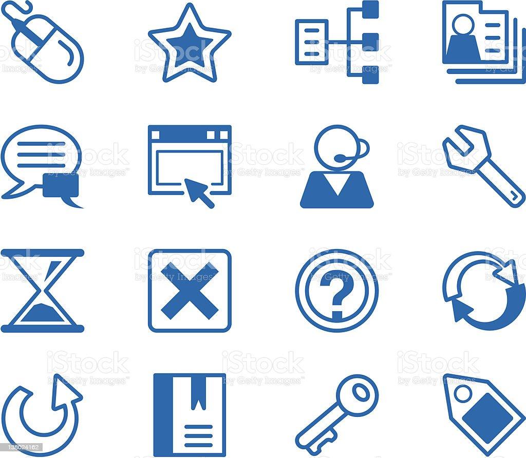 Icon series - Internet royalty-free stock vector art