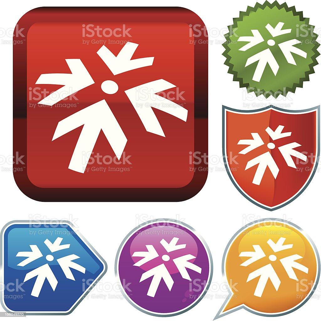 Icon Series Meeting Point Stock Vector Art More Images Of Arrow