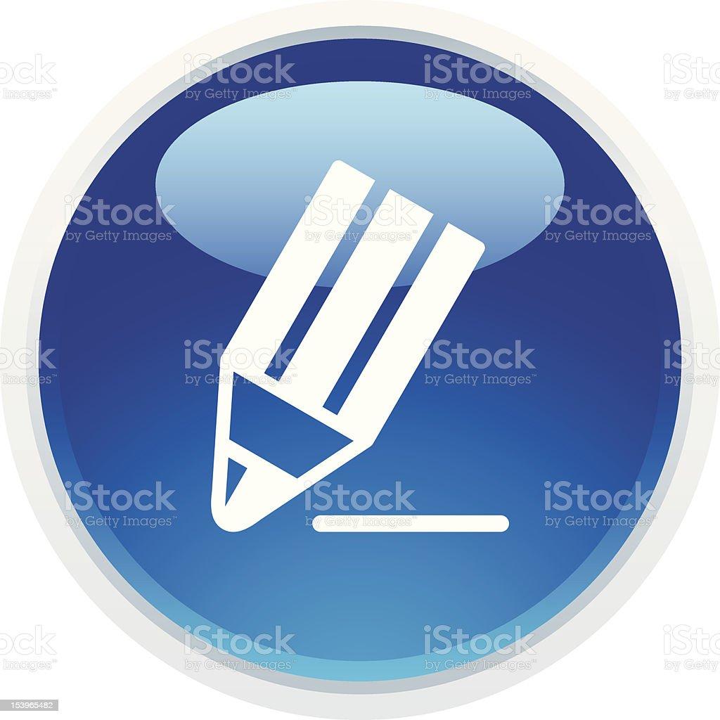 'BLUCO' Icon Series | Pencil/Edit royalty-free stock vector art