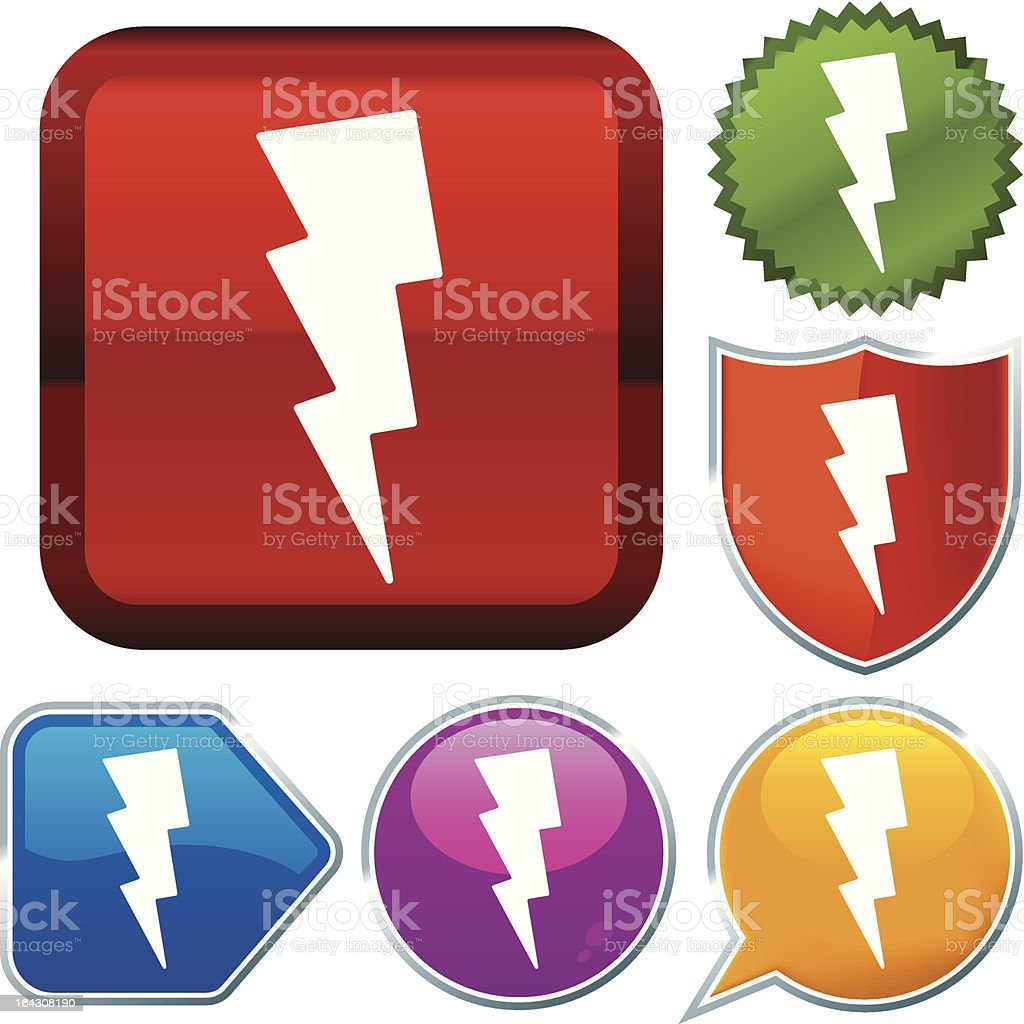 icon series: thunderstorm royalty-free stock vector art