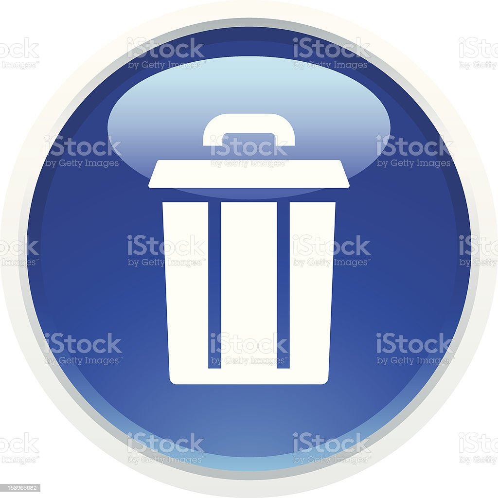 'BLUCO' Icon Series | Trash Can royalty-free bluco icon series trash can stock vector art & more images of blue